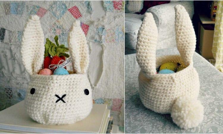 Bunny Basket Free Crochet Pattern