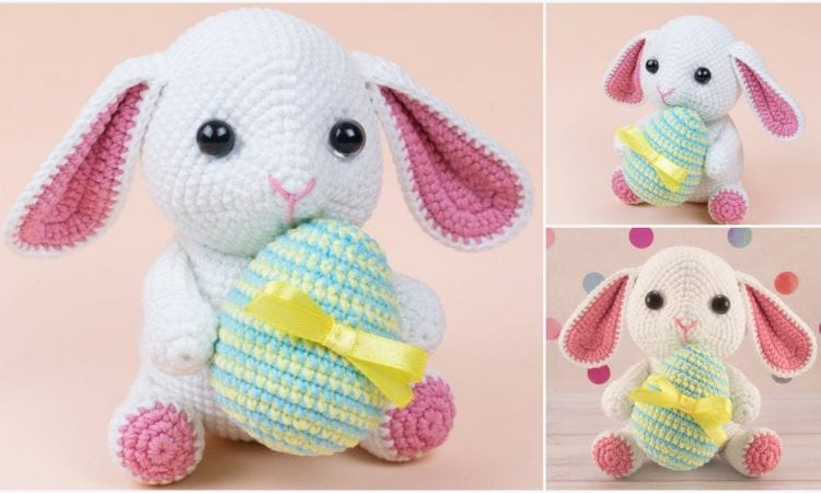 Bunny with Easter Egg Free Crochet Pattern