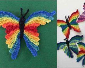 Butterfly Free Crochet Pattern