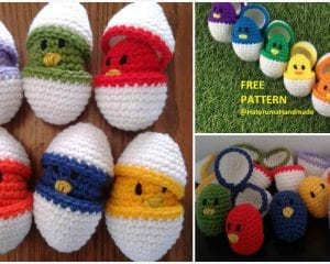 Color Matching Eggs Free Crochet Pattern