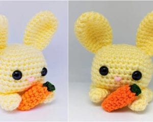 Cube Bunny Rabbit Free Crochet Pattern