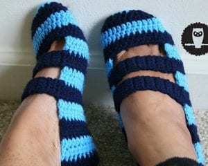 Double Strapped Slippers Free Crochet Pattern