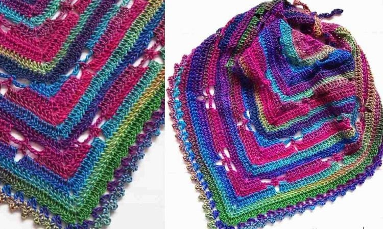 Dragonfly Cowl Free Crochet Pattern