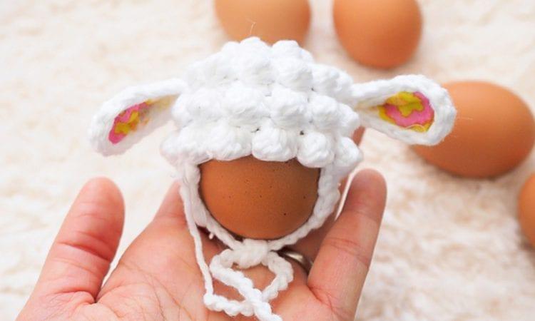Easter Eggs Mini Hat Lamb Free Crochet Pattern