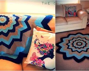 Expanding Flower Blanket Free Crochet Pattern