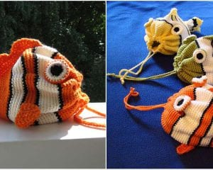 Fish Bag Free Crochet Pattern