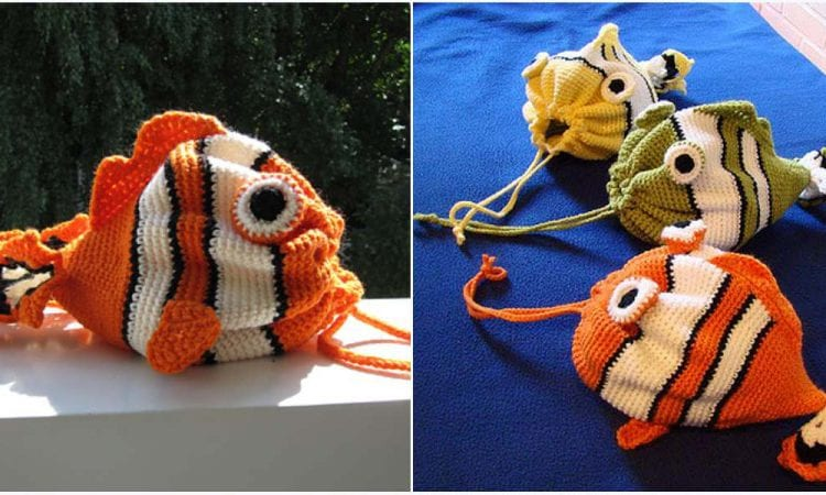 Fish Bag Free Crochet Pattern