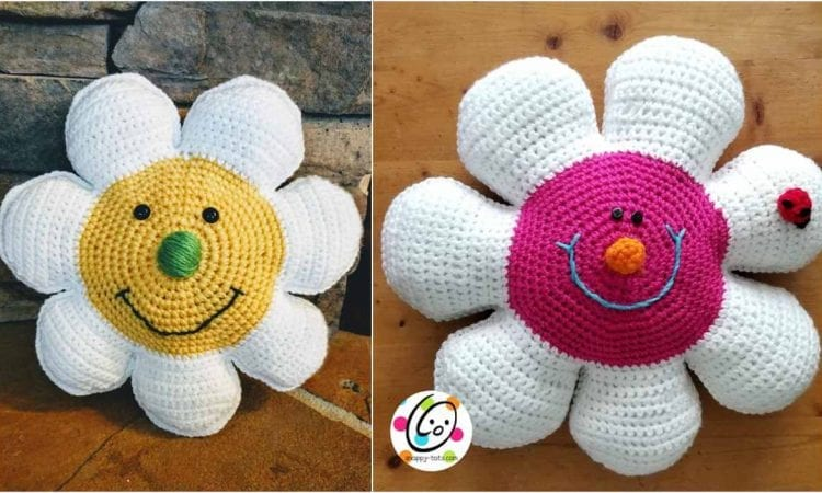 Daisy Pillow Free Crochet Pattern