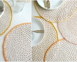Granny Circle Placemat Free Crochet Pattern