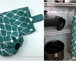 Grocery Bag Holder Free Crochet Pattern