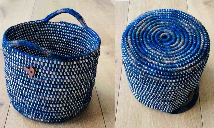 Happy Project Basket Free Crochet Pattern