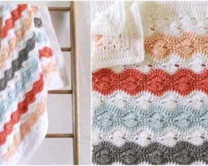 Modified Catherine's Stitch Baby Blanket Free Crochet Pattern
