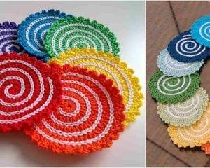 Spiral Coasters Free Crochet Pattern