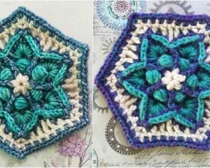 Traveller's Joy Hexagon Free Crochet Pattern