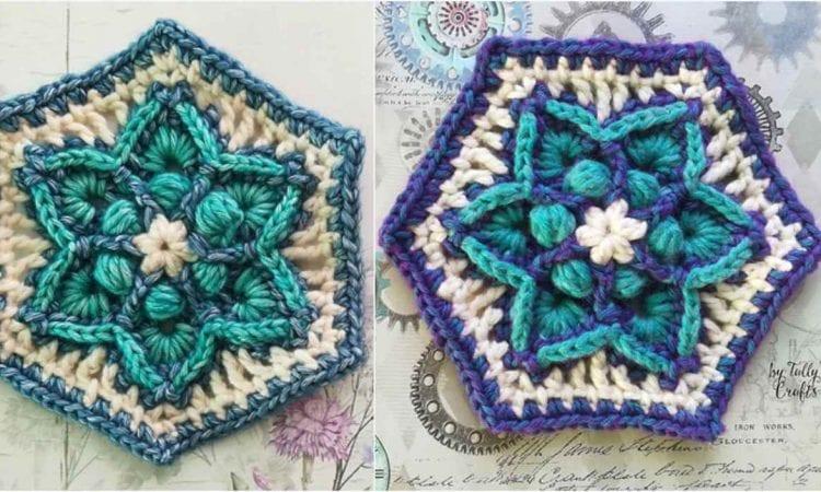 Traveller's Joy Hexagon Free Crochet Pattern