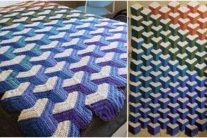 Sunflower Crochet Blanket C2c
