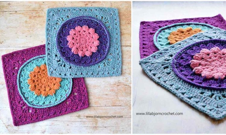 Water Lilly Square Free Crochet Pattern