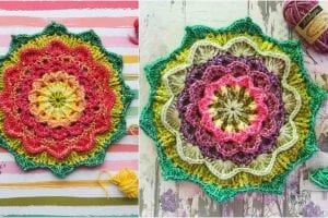 Wild Berry Flower Mandala Free Crochet Pattern