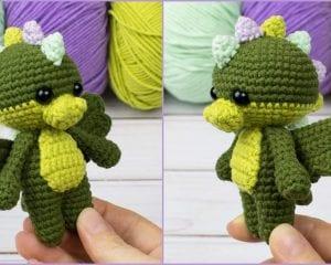 Tiny Dragon Free Crochet Pattern