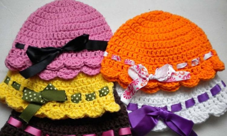 Baby Flapper Girl Hat Free Crochet Pattern