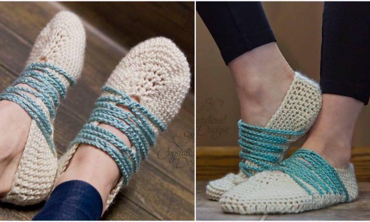 Branwen Slippers Free Crochet Pattern