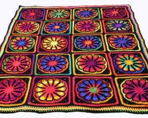 Flower Power Afghan Free Crochet Pattern