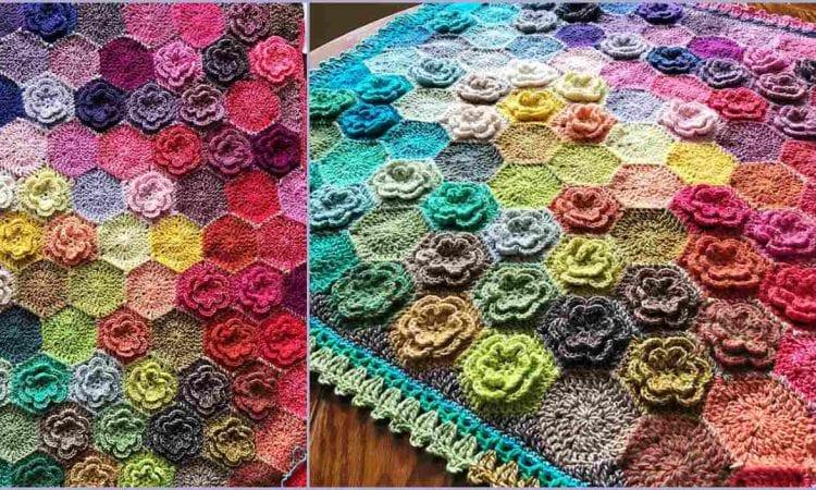 Happy Little Tree Blanket Free Crochet Pattern
