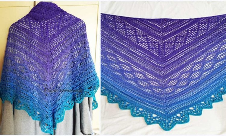 Luna Viola Shawl Free Crochet Pattern