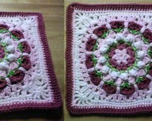 Rachel's Flower Afghan Square Free Crochet Pattern