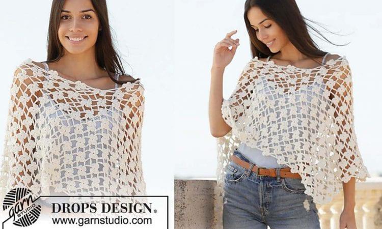 Sweet Jasmine Poncho Free Crochet Pattern