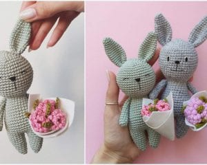 Birthday Bunnies Free Crochet Pattern