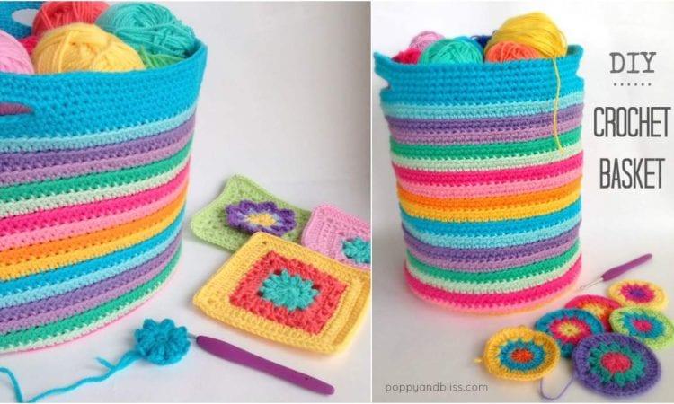 Easy Basket Free Crochet Pattern