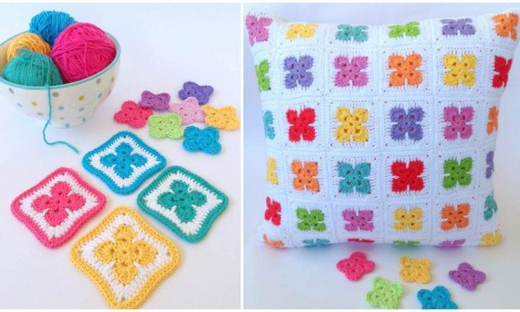Fleur Afghan Block Free Crochet Pattern
