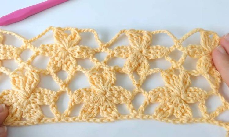 Flower Mesh Free Crochet Pattern