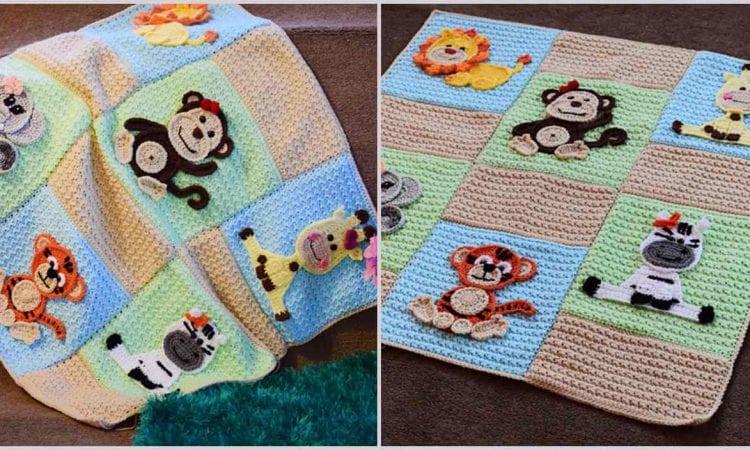 Jungle Friends Blanket Free Crochet Pattern