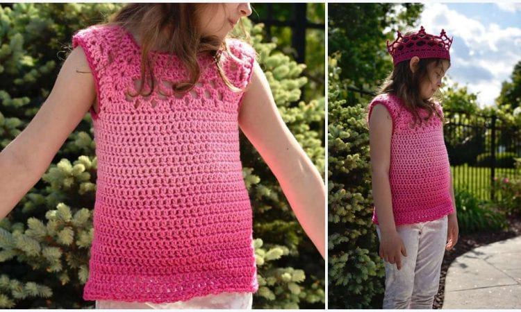 Kid's Midnight Top Free Crochet Pattern