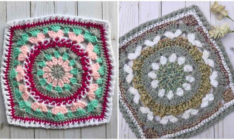 Lana Blossom Square Free Crochet Pattern