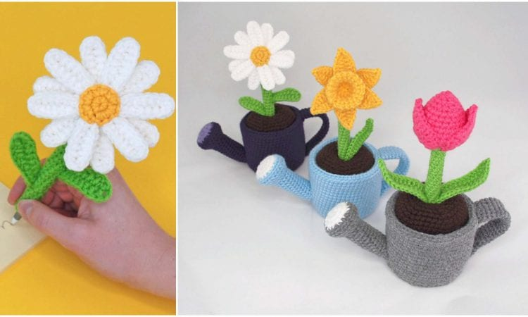 May Potted Flowers Free Crochet Pattern