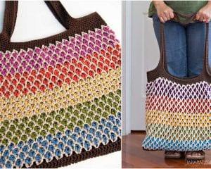 Moroccan Market Tote Free Crochet Pattern