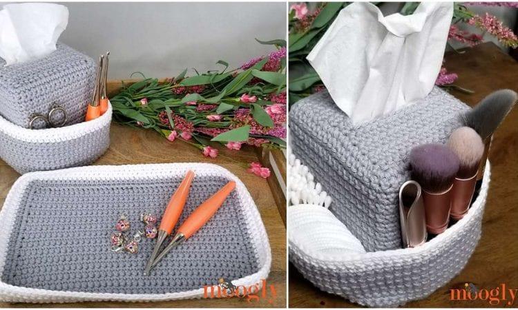 Pampering Vanity Set Free Crochet Pattern