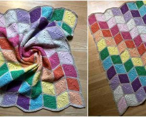 Prismatical Blanket Free Crochet Pattern
