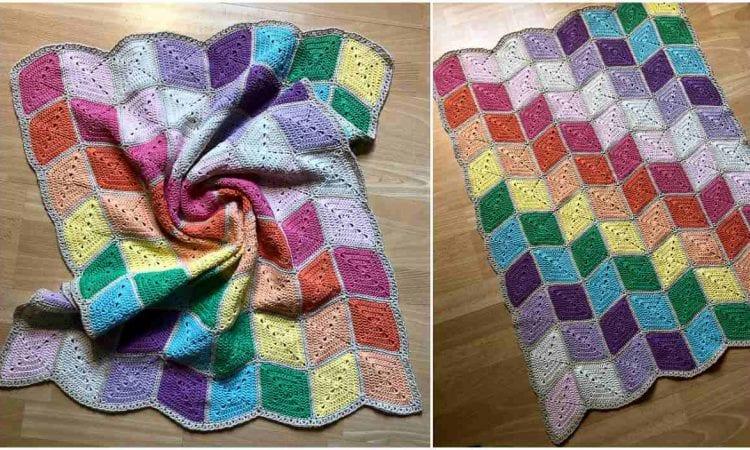 Prismatical Blanket Free Crochet Pattern