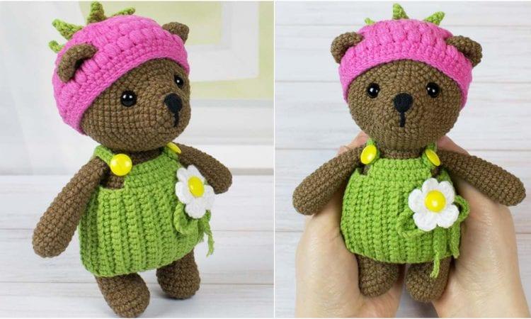Raspberry Bear Free Crochet Pattern