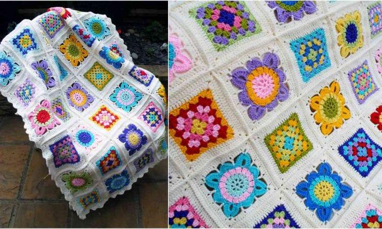 Seaside Blues Blanket Free Crochet Pattern
