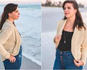Seaside Cardigan Free Crochet Pattern