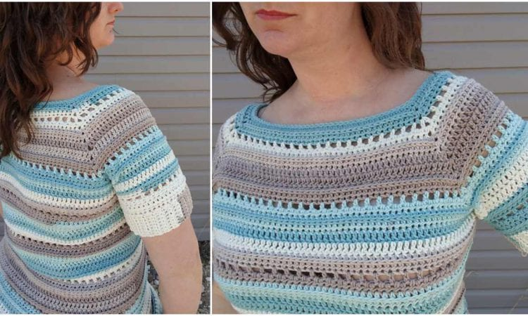 Spring Stripes Raglan Free Crochet Pattern