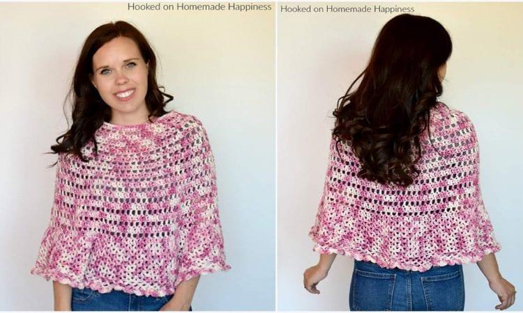 Springtime Poncho Free Crochet Pattern
