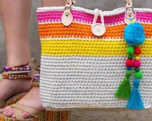 Sweet Simple Tote Bag Free Crochet Pattern