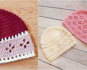 Vintage Vibes Beanie Free Crochet Pattern