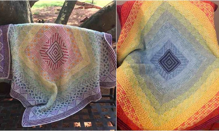 Wacky Weave Rainbow in the Ground Free Crochet Pattern